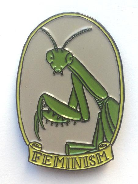 Feminism Mantis Enamel Pin | Catalog | Firestorm Books & Coffee